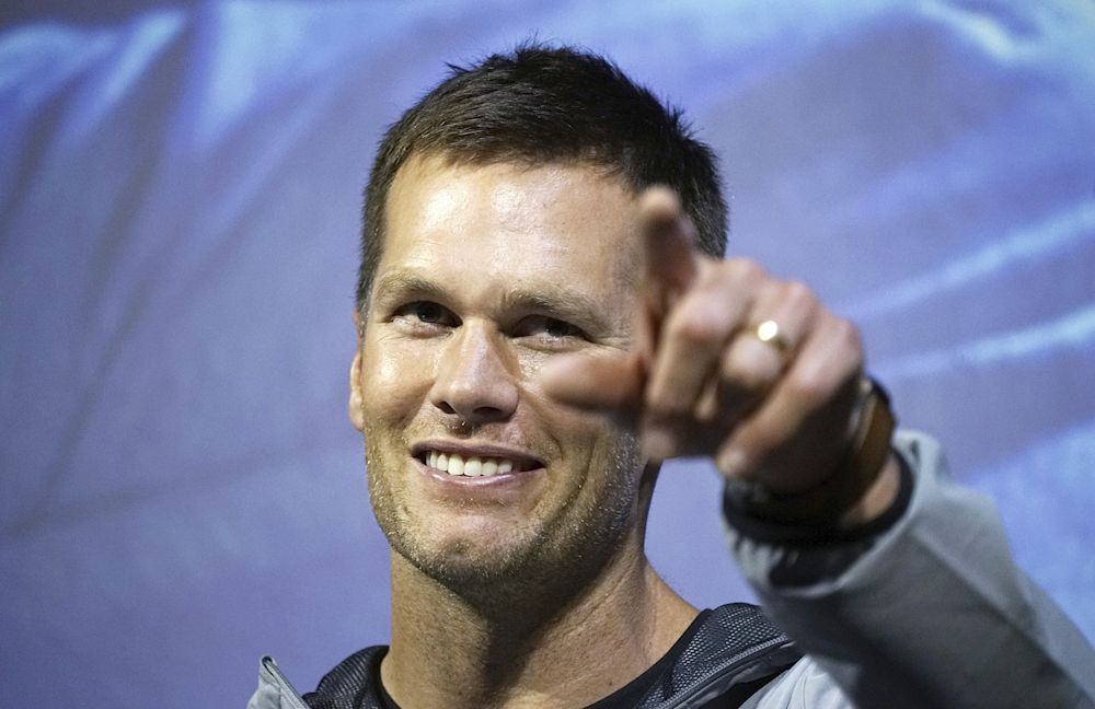 Tom Brady wants to point you toward better physical and mental health. (AP)