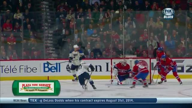 Alexander Steen buries the one-timer
