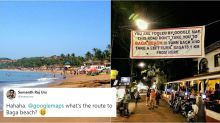 This banner warning people of wrong route to Baga Beach has Twitterati in splits