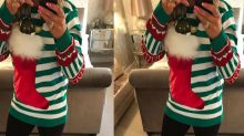 We need this wine pocket Christmas jumper