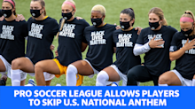 Pro soccer league allows players to skip U.S. National anthem