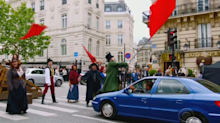 James Corden takes 'Crosswalk the Musical' to Paris with 'Les Misérables'