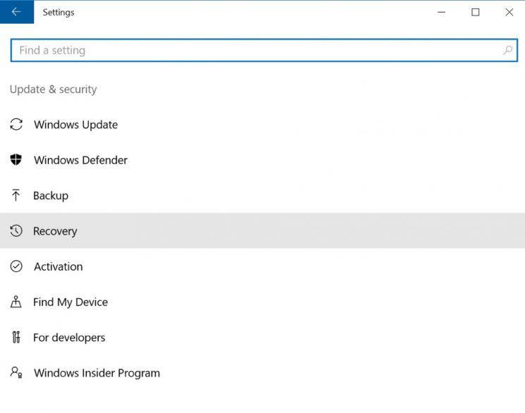 Windows 10 PC backup