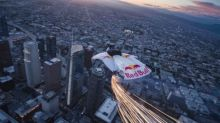 Flying stunt startles Los Angeles residents