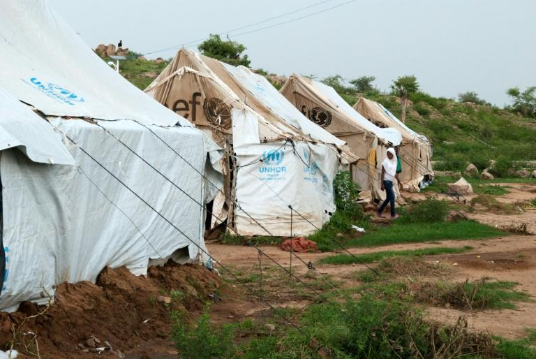 Haven: Hitsats refugee camp houses more than 13,000 people who have fled Eritrea (AFP Photo/VINCENT DEFAIT)