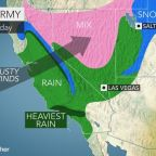 A month's worth of rain could hit the Los Angeles area over 2 days, AccuWeather forecasts