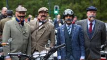 Hundreds of vintage motorcyclists ride though London in charity fundraiser