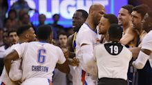 Tempers flare in OKC, but Steph gets last laugh as Warriors blow out Thunder again