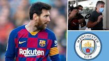 Lionel Messi's father and agent Jorge arrives in Barcelona for showdown talks after son's transfer demand