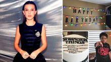 Millie Bobby Brown promete asistir al cumpleaños de un fan después de que nadie fuera a su fiesta