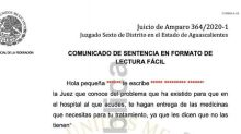 La emotiva carta de juez de Aguascalientes a niña con cáncer que ganó amparo
