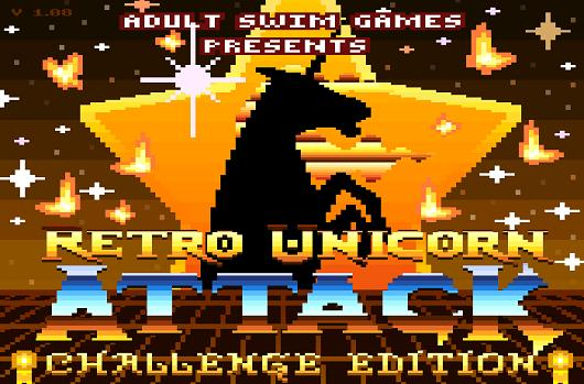 Be a pretty unicorn in PixelJam's Retro Unicorn Attack: Challenge Edition
