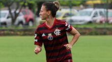 Liberada pelo DM, Patrícia Derrico, do Fla, comemora retorno: 'Saudade de estar em campo é enorme'