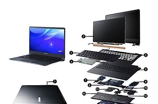 Visualized: Second-gen Samsung Series 9 gets torn down to its ultra-slim components