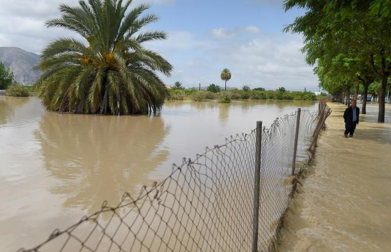 Parts of southeastern Spain have suffered some of the heaviest rainfall on record (AFP Photo/JOSE JORDAN)