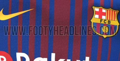 Les photos du maillot domicile du Barça 2017-2018 dévoilées