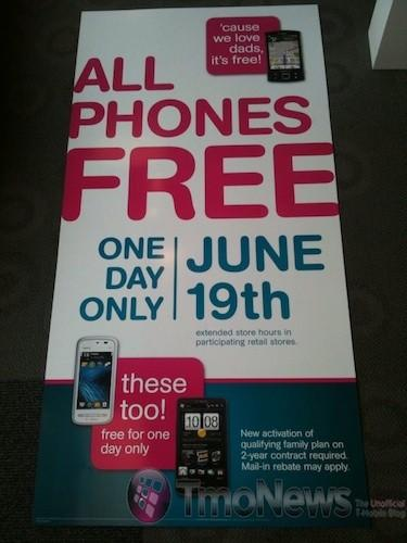 T-Mobile celebrates Father's Day with one-day 'every phone is free' event