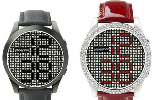 Phosphor's Reveal wristwatch uses Swarovski crystals to tell time, bedazzle you