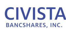 Civista Bancshares, Inc. Announces Record 2019 Earnings