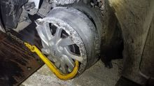 Teen's unbelievable excuse for driving without front tyre