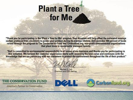 Dell's new eco bait and switch: the Plant a Tree for Me program