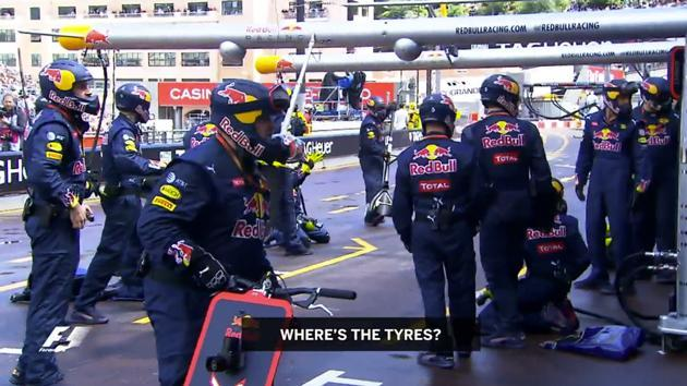 New footage emerges of Red Bull's pit stop nightmare