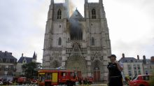 Fire at Nantes cathedral