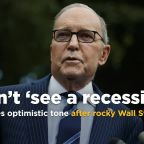 White House economic adviser Kudlow: 'I sure don't see a recession'