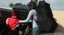 This bag makes it easy to travel with a car seat