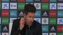 """Simeone sobre sus jugadores: """"Son unas fieras porque aún cansados los tipos te dan la vida"""""""