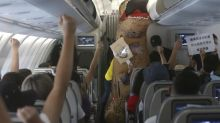 Fantasy flight experience excites Taiwanese passengers without leaving the ground