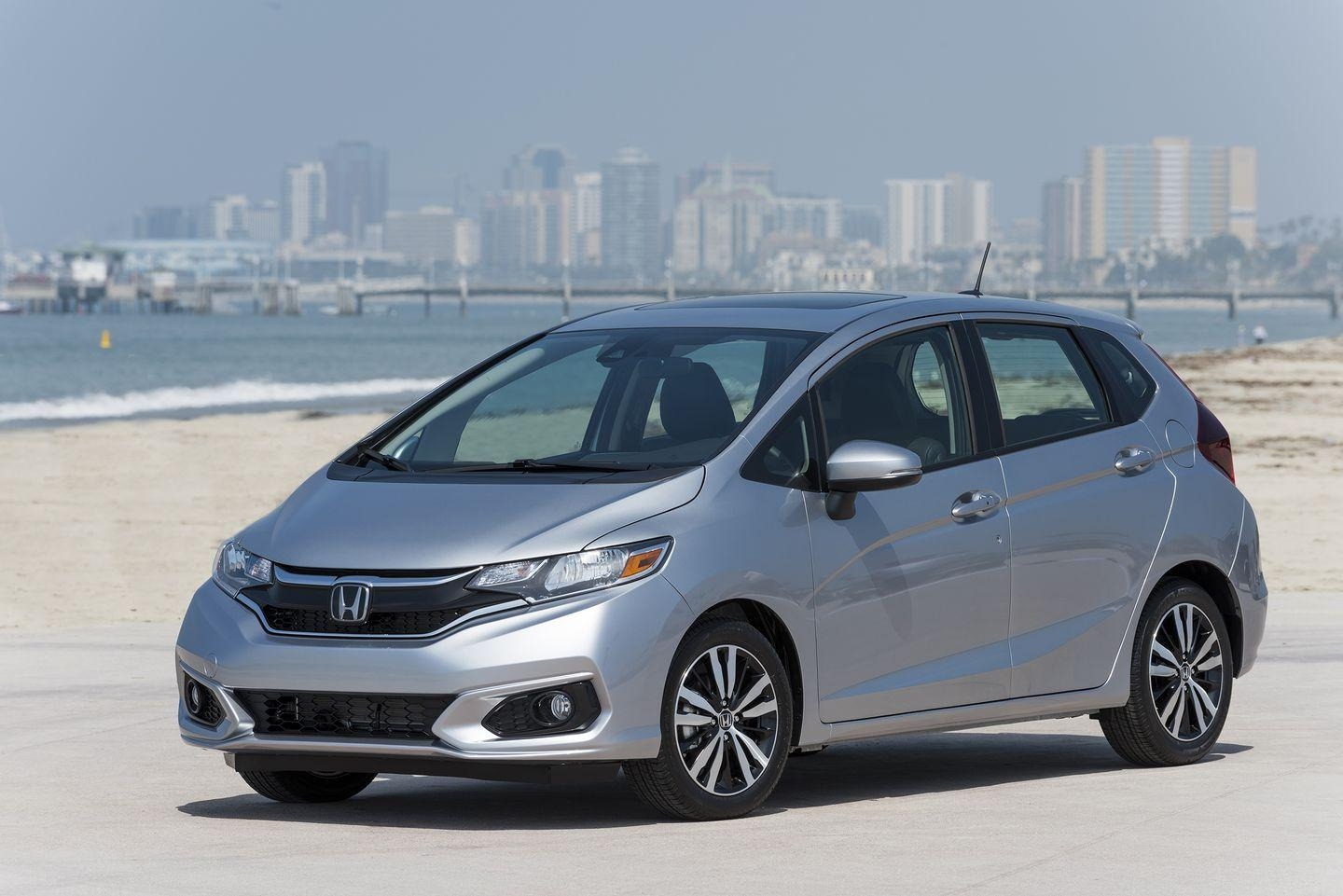 """<p>The <a href=""""https://www.caranddriver.com/honda/fit"""" rel=""""nofollow noopener"""" target=""""_blank"""" data-ylk=""""slk:Honda Fit"""" class=""""link rapid-noclick-resp"""">Honda Fit</a> is starting to show its age, but it remains a compelling contender with proven reliability. Honda puts useful features in every Fit, things like Bluetooth compatibility and LED brake lights. The Fit has a surprisingly spacious back seat and offers more cargo space than you'd expect in a car its size. The Fit comes with a three-year or 36,000-mile warranty on all its models, but offers a five-year or 60,000-mile powertrain warranty with three years or 36,000 miles of roadside assistance specifically for the Fit.</p>"""
