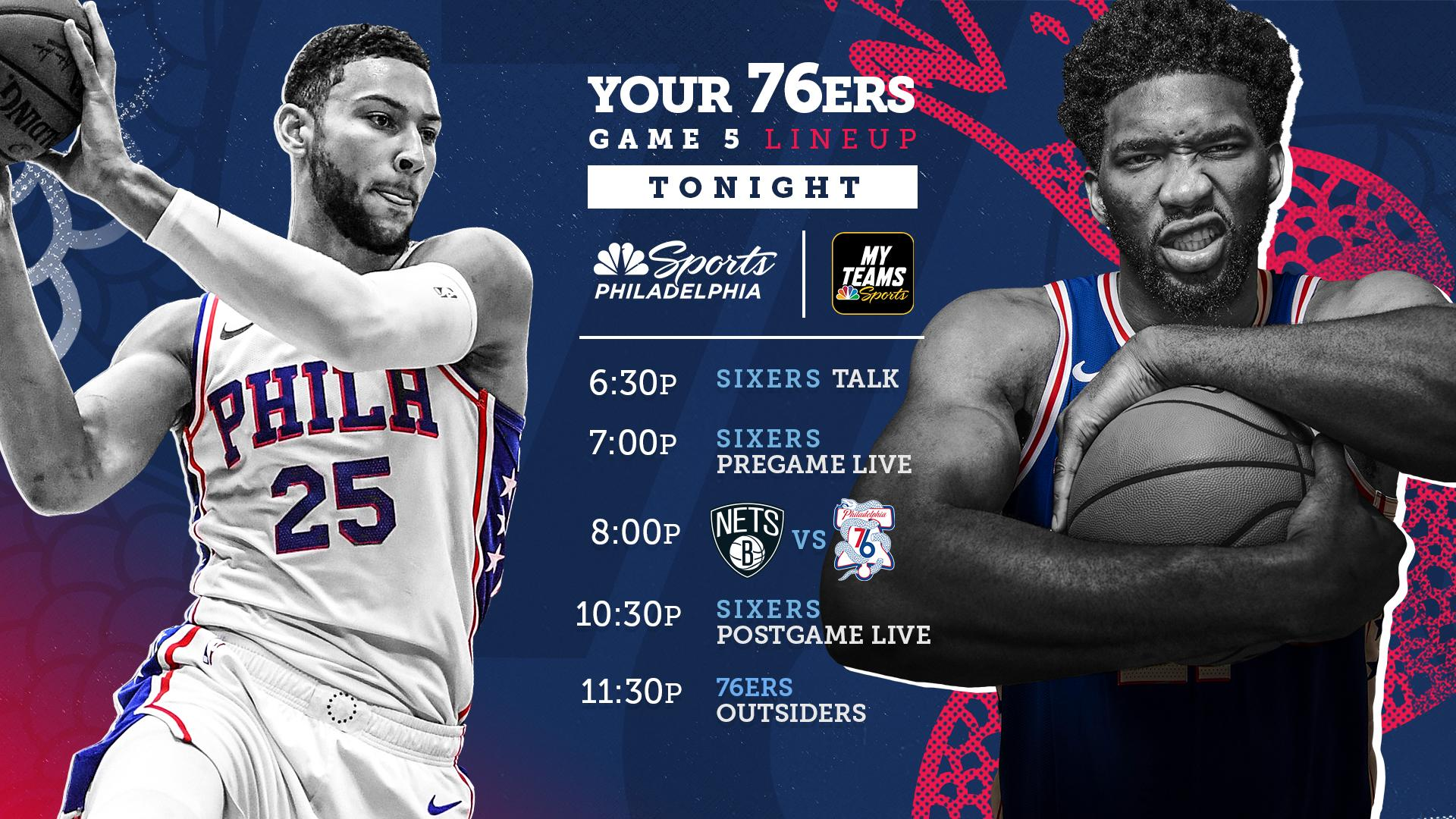 How To Watch Sixers Vs Nets Game 5 Start Time TV And