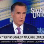 Romney: GOP Rep's Call to Impeach Trump a 'Courageous Statement'