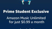 Amazon Introduces New, Exclusive Prime Student Benefit: Amazon Music Unlimited for Just $0.99