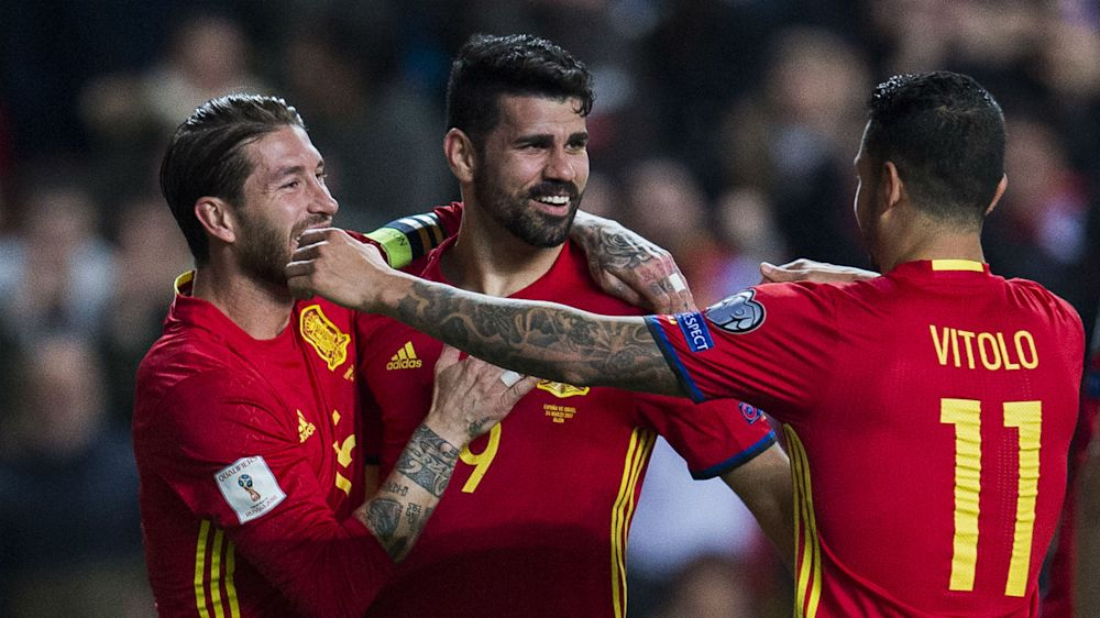 Chelsea striker Costa feeling more comfortable in Spain squad