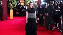 Keira Knightley suspende con su Chanel en la premiere de 'The Aftermath'