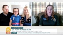 Six-year-old Isla rescues her mum by calling the emergency services for her