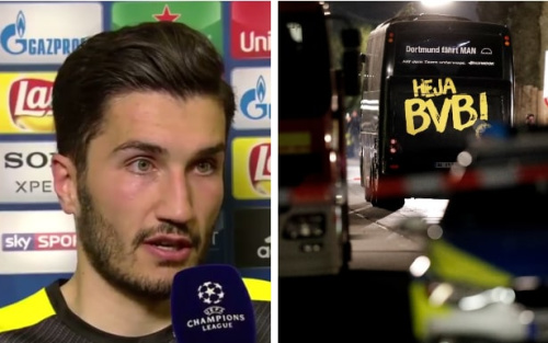 Sahin's strong words to Norway TV after the rearranged game have left many questioning whether it should have been played so soon - Viasat Fotball/EPA