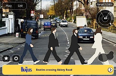 Layar 3.0 reunites the Beatles in 3D augmented reality