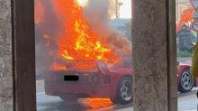 Ferrari F40 in fiamme a Monaco: colpa dell'auto o del proprietario?