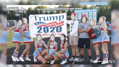 Game canceled after squad displays Trump banner