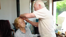 84-year-old man who went viral for learning to do his blind wife's makeup stars in beauty tutorial