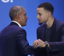Obama joined by Curry to tell minority boys 'you matter'