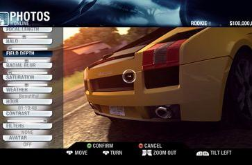 Sexy shots of Test Drive's GUI