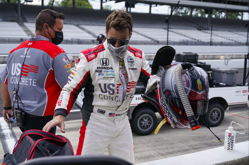 Penske cars struggle with speed as Andretti tops 233 mph