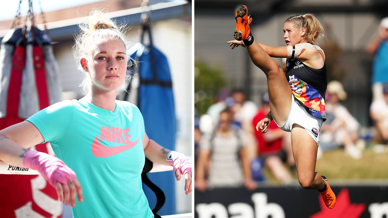 'I'll beat him one day': How sparring with the best helped AFLW icon Tayla Harris