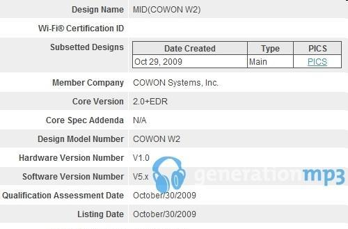 Atom-powered Cowon W2 leaked, could be crowding in on imaginary tablet territory