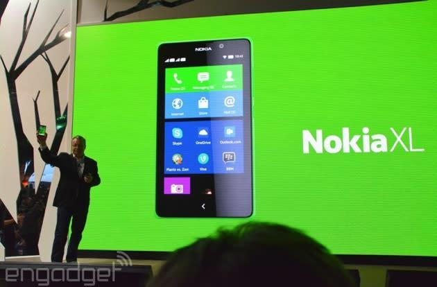 Nokia introduces a third Android device, the 5-inch Nokia XL