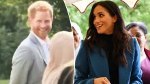 Prince Harry shamelessly caught stealing food at Meghan's cookbook launch
